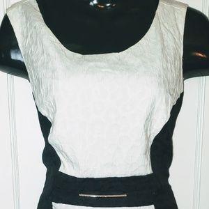 NWT Michael by Michael Kors Cream/Black Dress